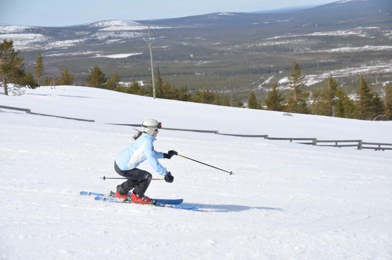 Skiing in Puhä