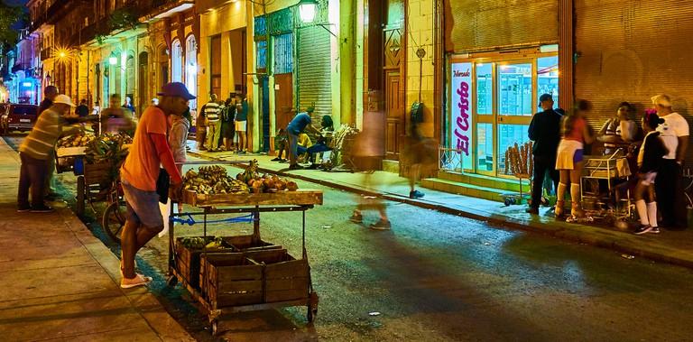 Havana, Cuba, streets, market