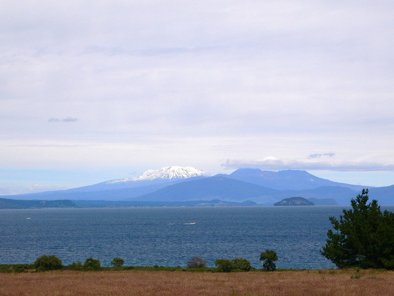 View of Tongariro National Park from Taupo