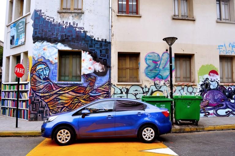Street corner in Santiago