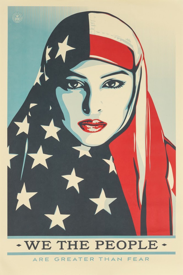 Shepard Fairey, We The People (2017) | Courtesy of Poster House