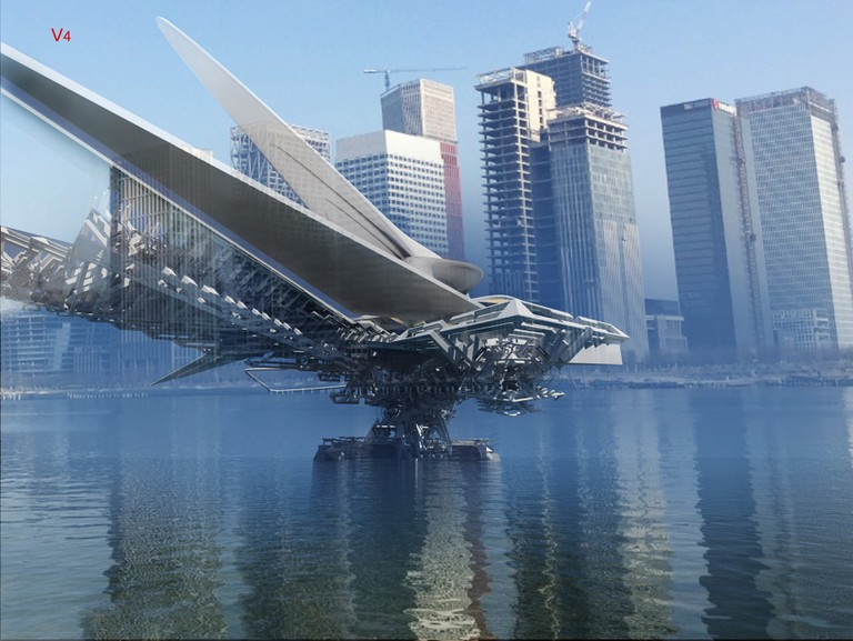 Revolving Solar Sail bridge