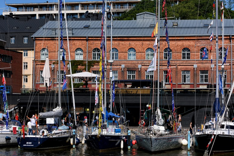 Tall ships in Turku harbour