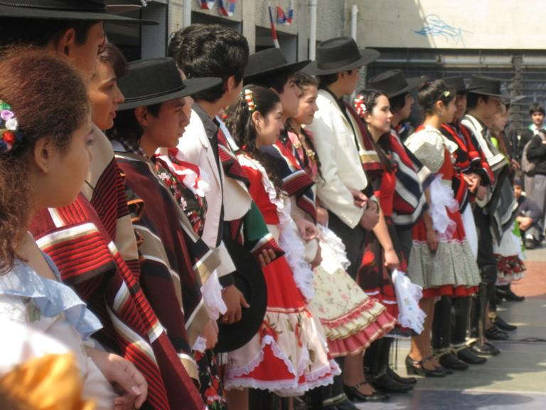 Cueca dancing