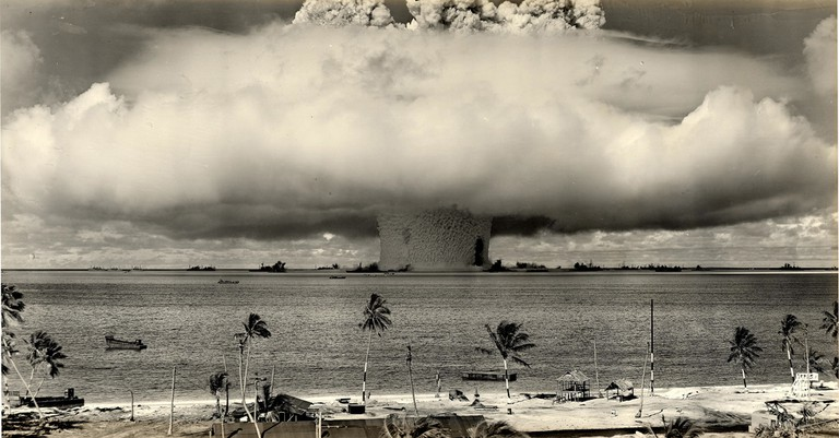 A 1946 atomic bomb test conducted by the U.S. Military in the Marshall Islands