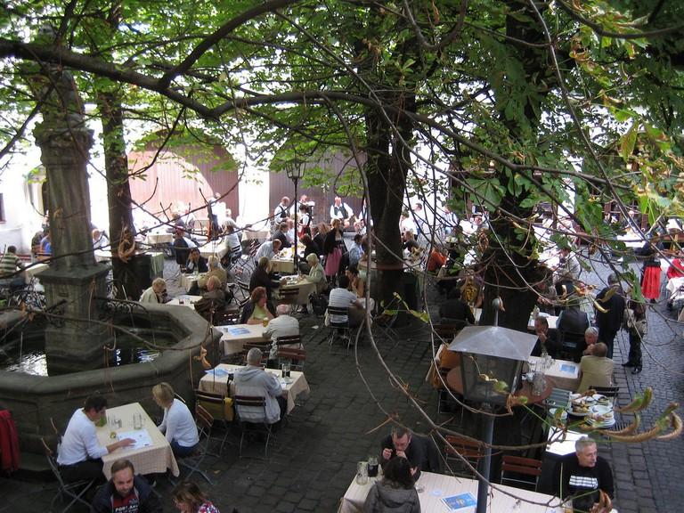 München, Hofbräuhaus beer garden