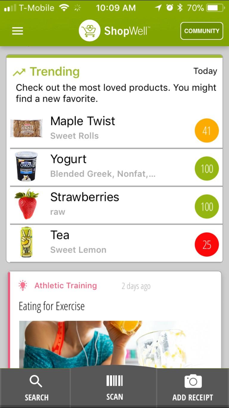 The ShopWell app