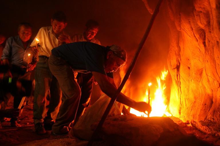 Mayan sacred fire