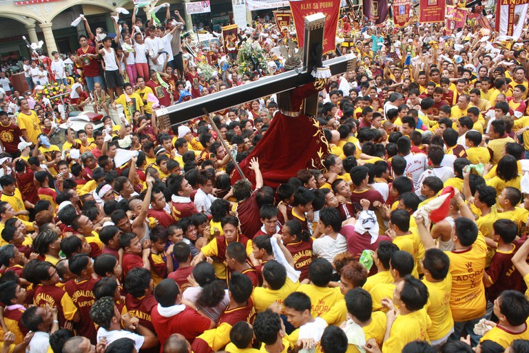 Manila streets during the feast of the Black Nazarene