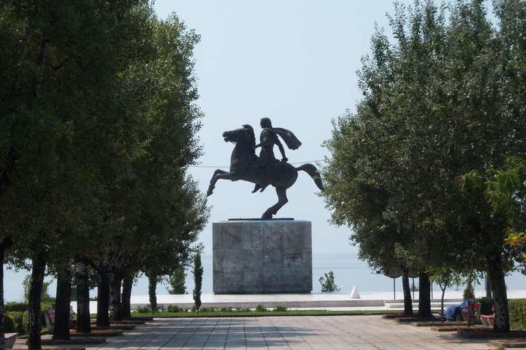 Alexander the Great Statue in Thessaloniki