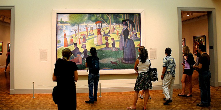 The Art Institute of Chicago featured in a famous scene from Ferris Bueller's Day Off