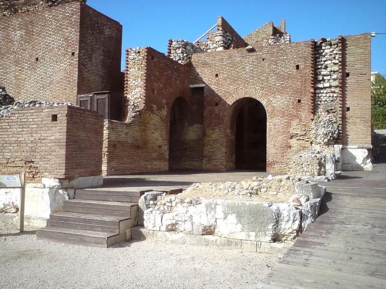 Ruins of the amphitheater from the Roman times in Patras