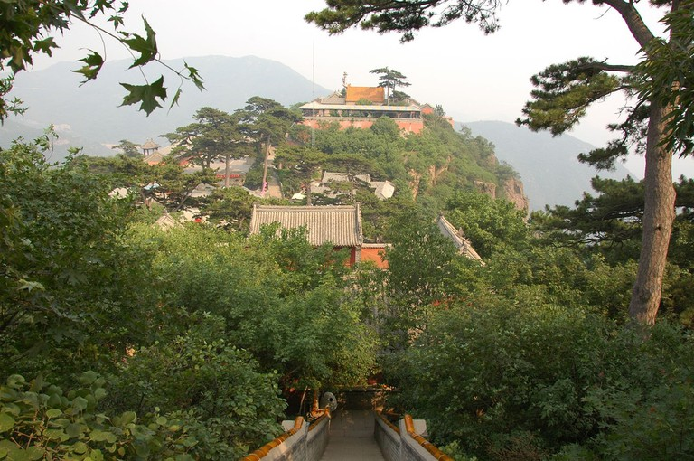 Pathway to Miaofeng Temple