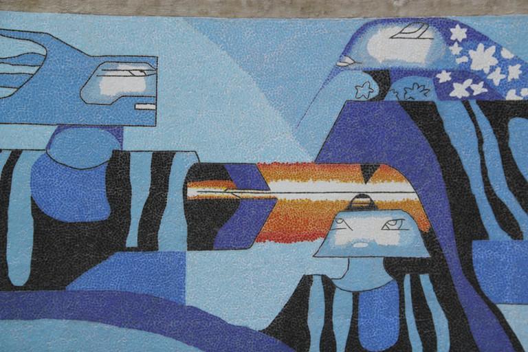 Efraín Recinos mural