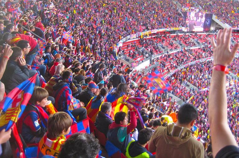 Barcelona football fans © Börkur Sigurbjörnsson