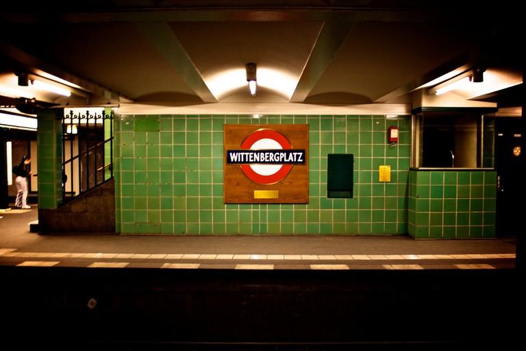 The underground station at Wittenbergplatz