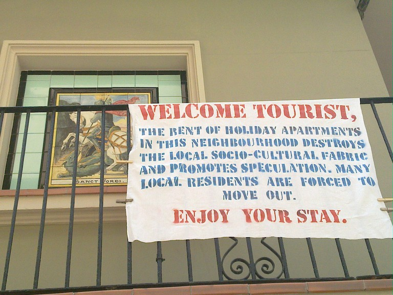 A sign in the Barceloneta neighbourhood © Toni Hermoso Pulido