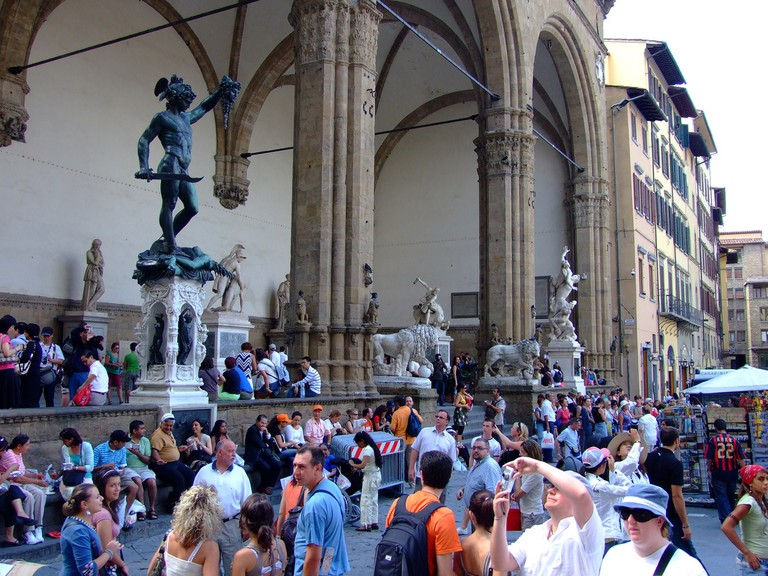 Tourists in Florence