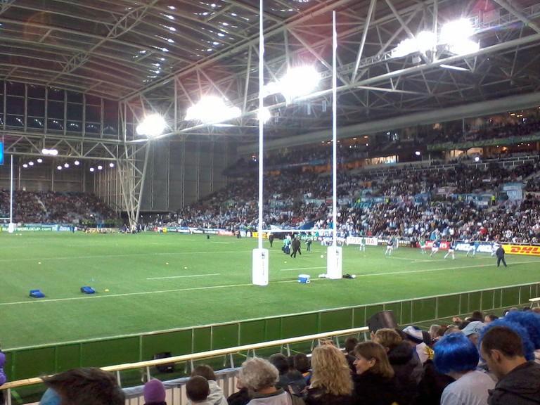 Rugby match at Forsyth Barr Stadium