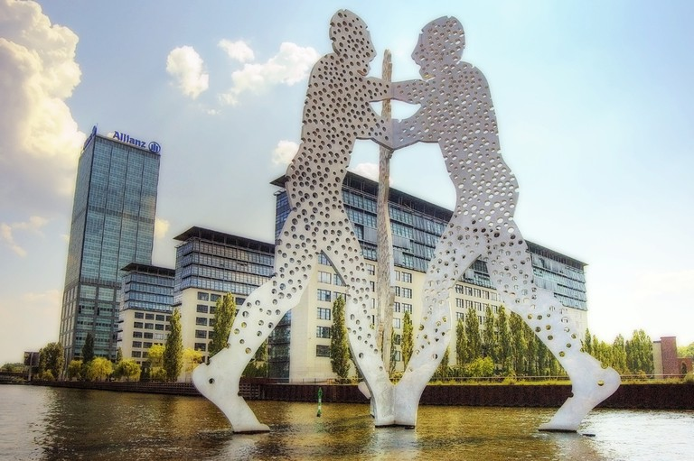 Berlin's iconic sculpture in the Spree, Monocle Man