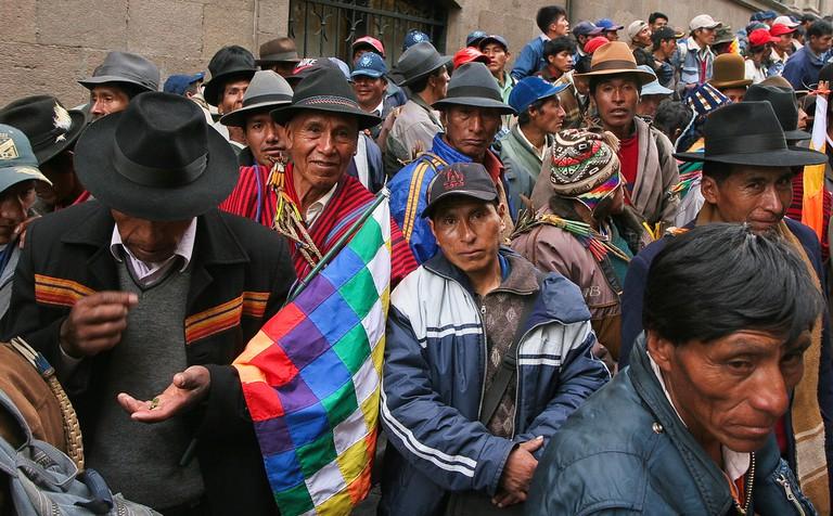 Protest in La Paz