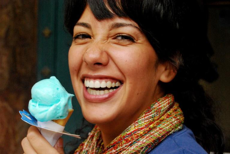 Enjoying an Ice Cream, Cuenca, Ecuador