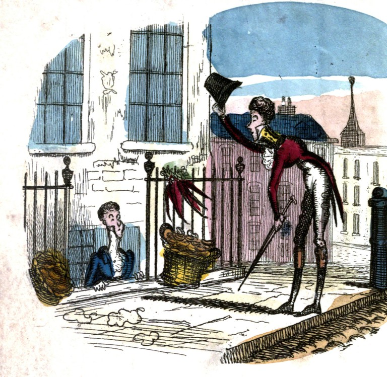 A 19th-century dandy out on a stroll