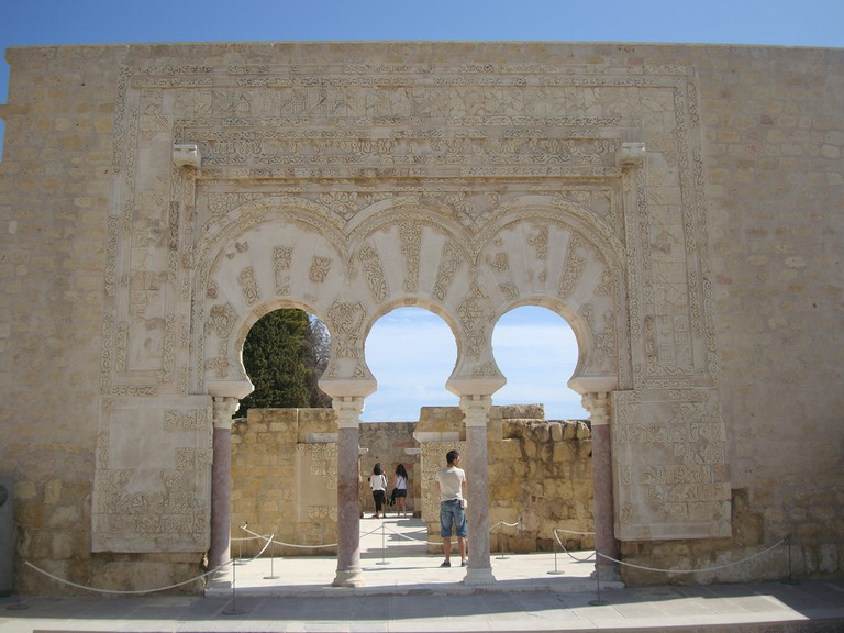 Beautiful Moorish archways in Medina Azahara