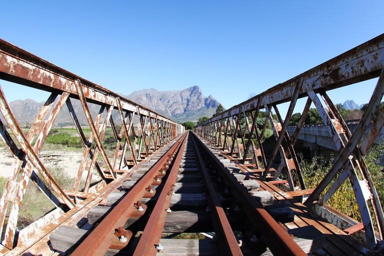 Train tracks near Stellenbosch