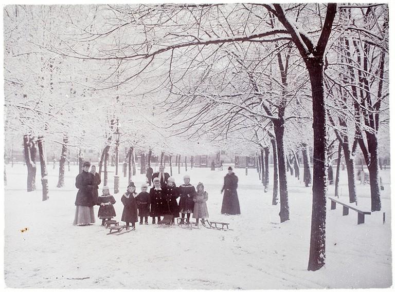Helsinki Old Church park, 1900