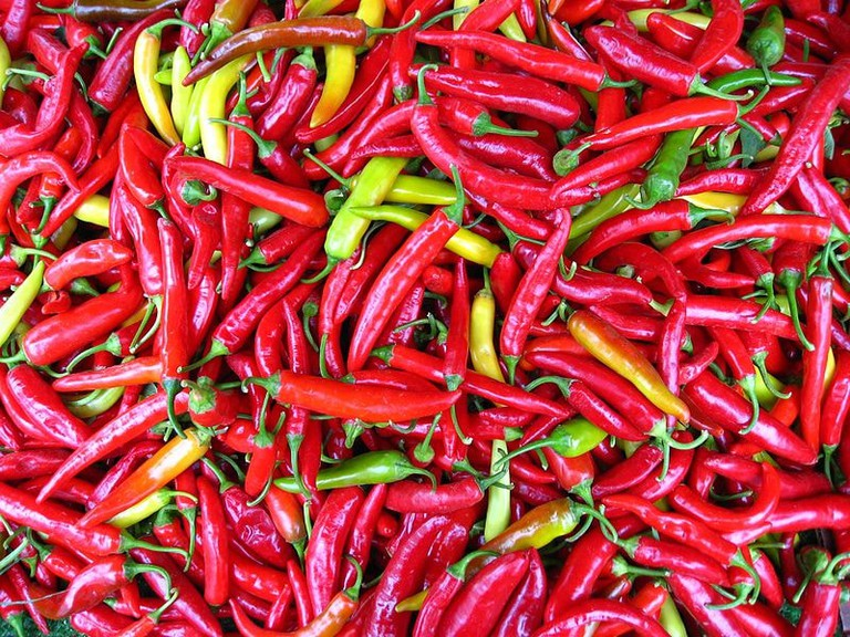 Cayenne pepper, a common ingredient in peppersoup