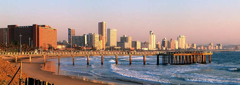 Durban's beaches are dotted with piers