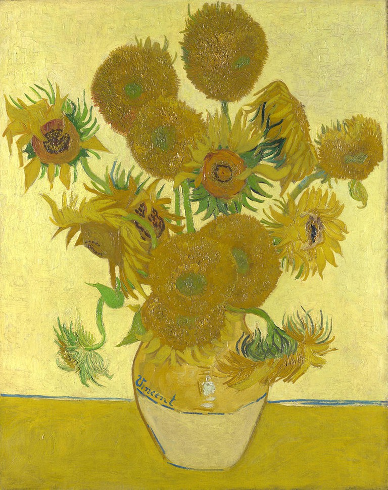 Still Life: Vase with Fourteen Sunflowers (1888) at the National Gallery | Via WikiCommons