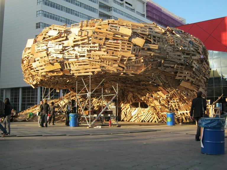 A temporary installation at TodaysArt 2012