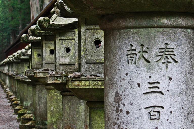 Stone lanterns at Tosho-gu