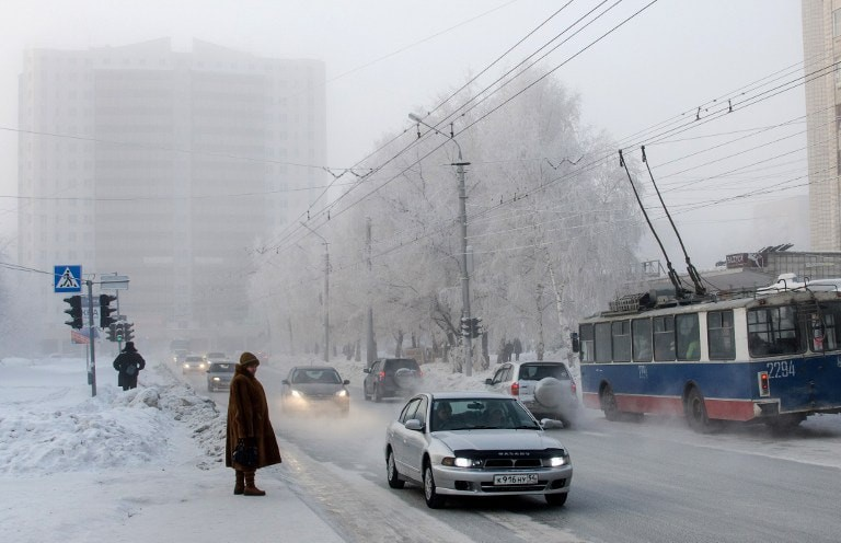 Cold Weather in Russia