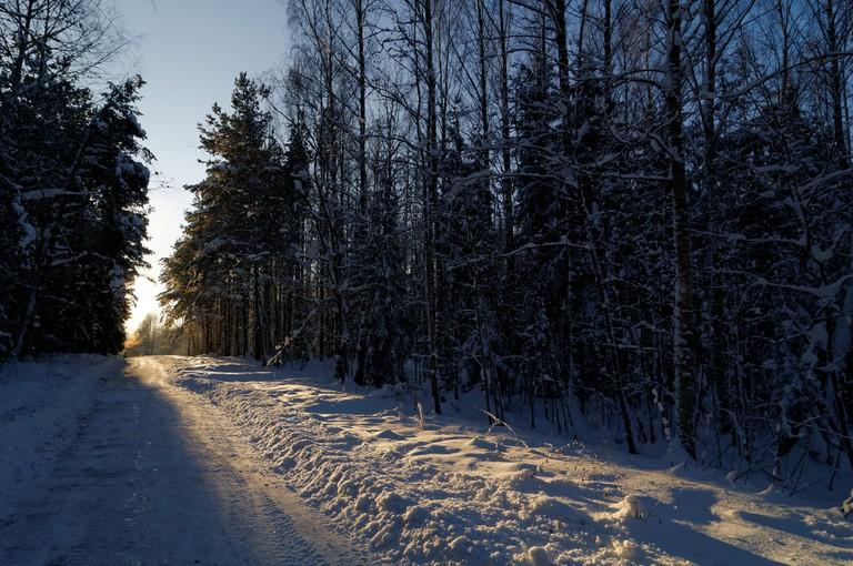 Malminkartano hill in winter.