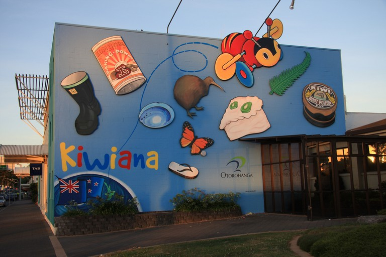 Kiwiana mural in Otorohanga