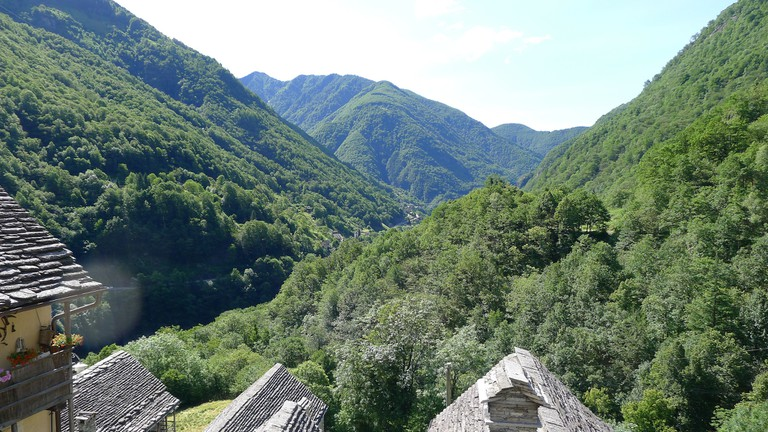 The views from Corippo across the slate-roofs are also breath-taking