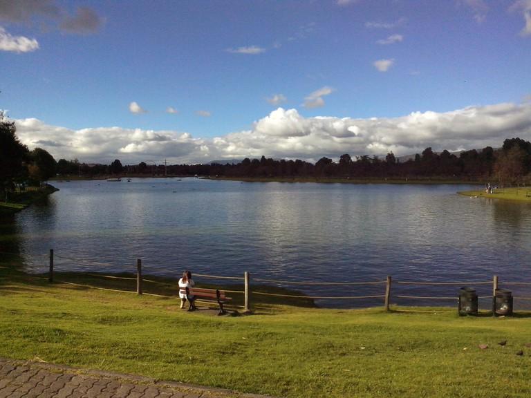 The lovely lake in Simon Bolivar Park