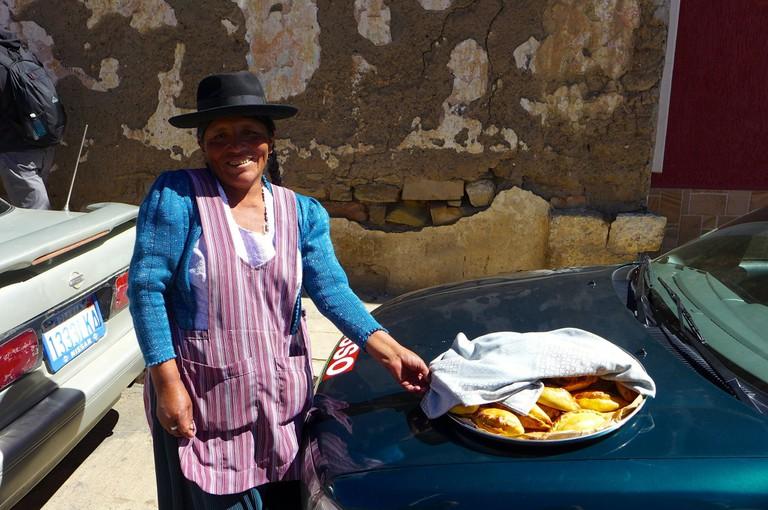 Salteña lady in Bolivia