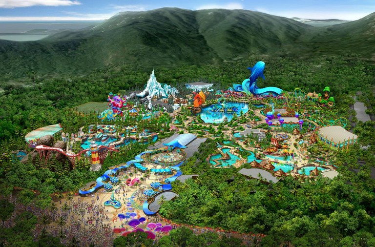 Aerial view of the world's largest ocean theme park. Courtesy of Chimelong Group.