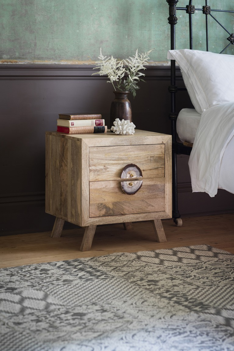 Agate Handle Bedside Table, £219