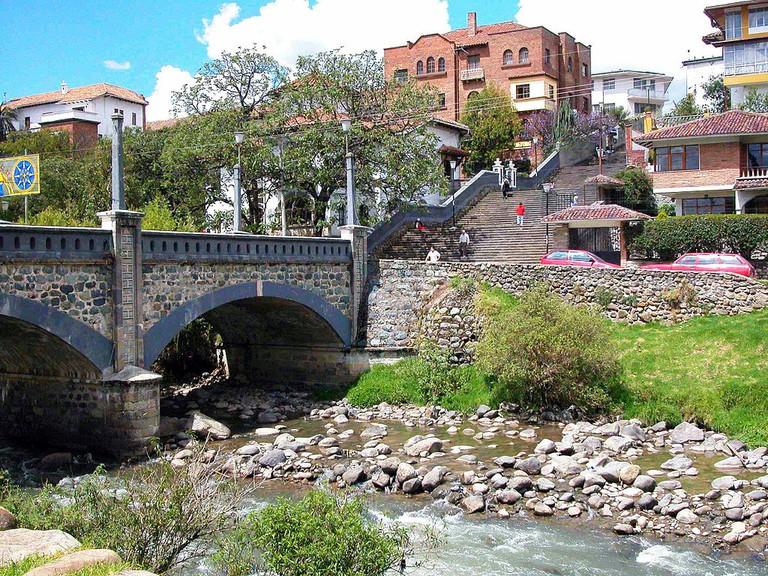 Rio Tomebamba in Cuenca, Ecuador