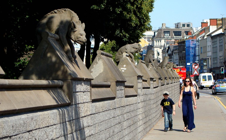 The Animal Wall of Cardiff Castle