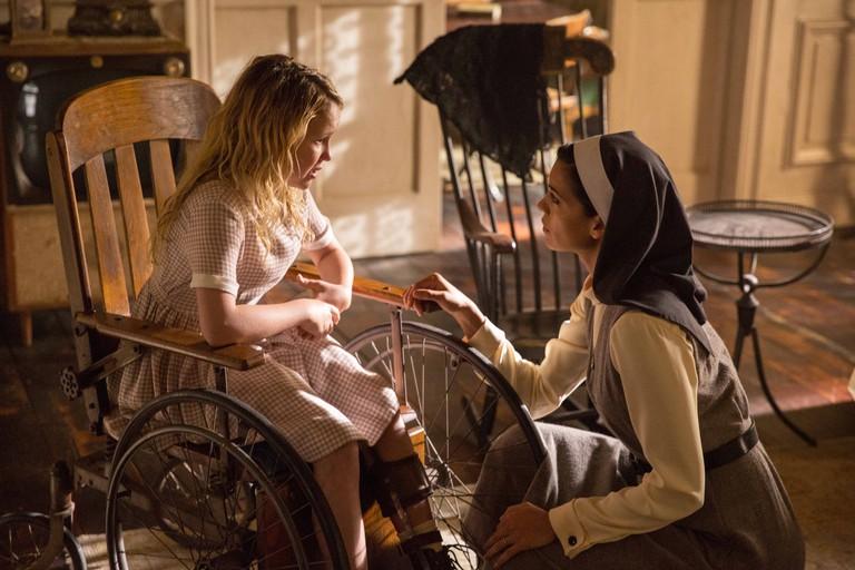 Stephanie Sigman (right) in Annabelle: Creation