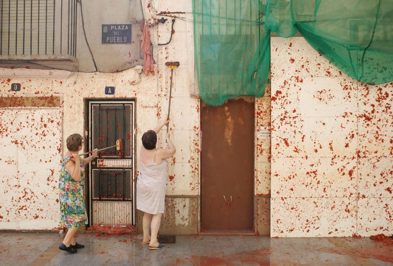 La Tomatina Festival Bunol Valencia Spain. Image shot 08/2007. Exact date unknown.
