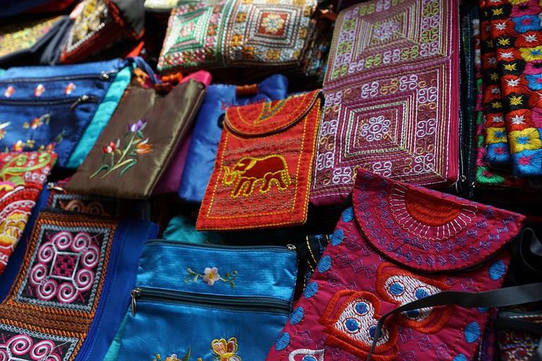 Bags at an Indian market