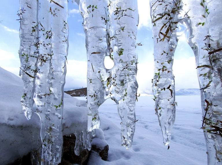 Icicles, Lake Baikal