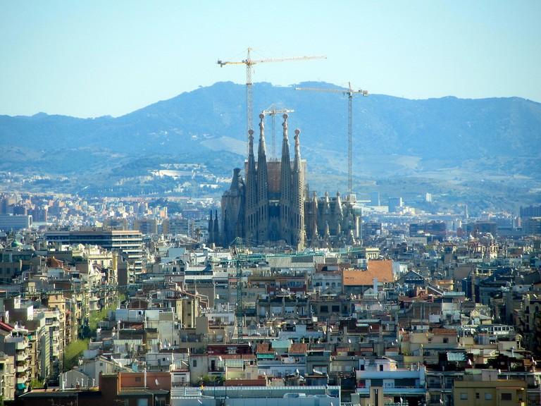 The Sagrada Família from afar CC0 Pixabay